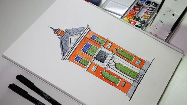 Urban Sketching for Beginners Watercolour Sketch in 3 Steps